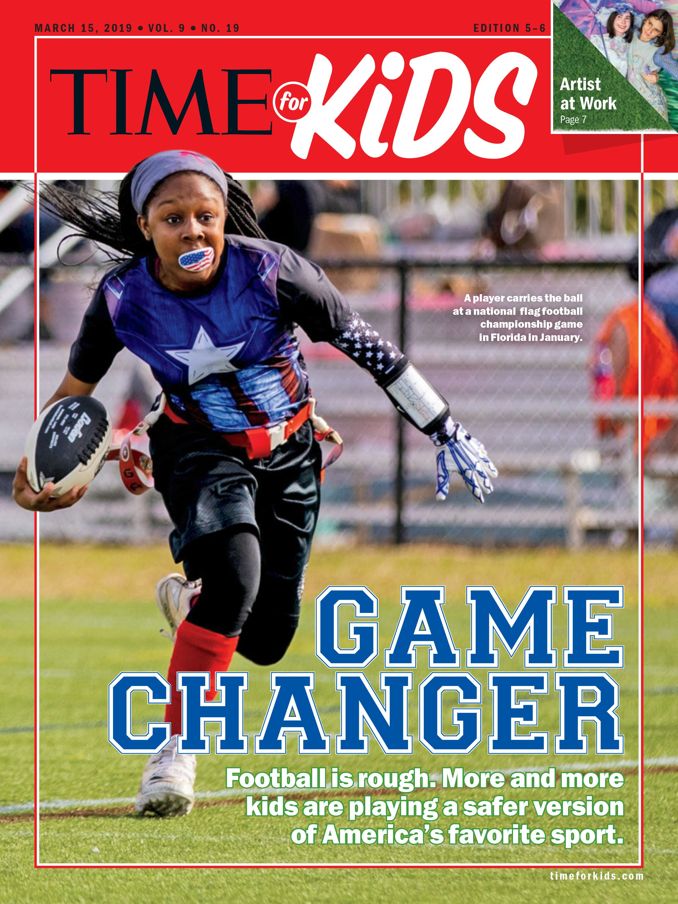 Football is rough. More and more kids are playing a safer