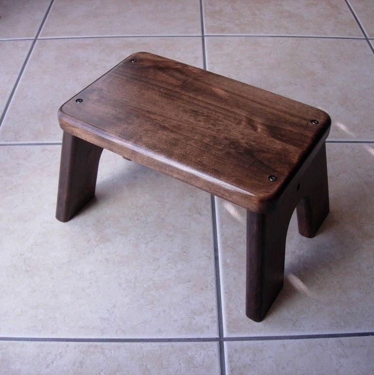 Brilliant Wood Step Stool Alder Stained Dark Walnut Kids Tip Machost Co Dining Chair Design Ideas Machostcouk