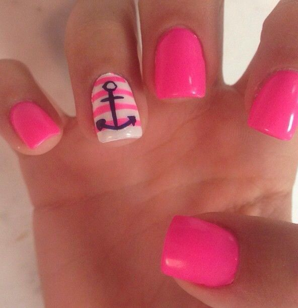 Nail Art Designs Anchor Hession Hairdressing