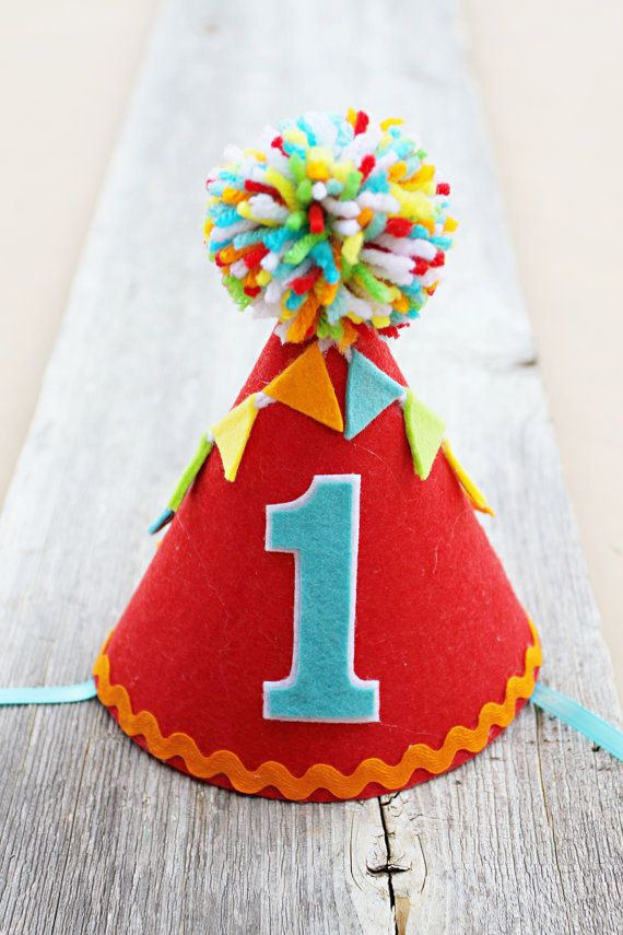 Boys 1st Birthday Party Hat Felt Carnival By LaLaLolaShop