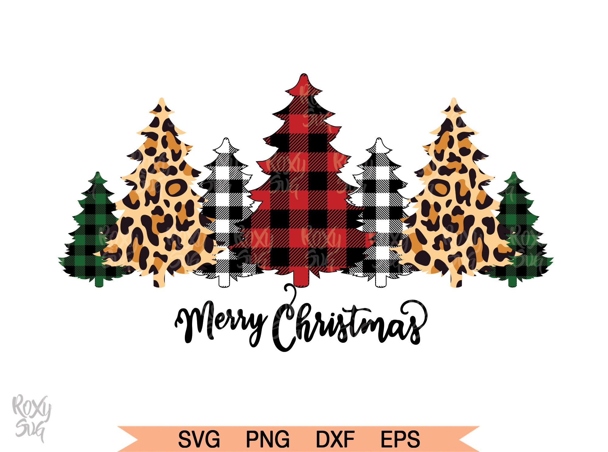 Buffalo Plaid Trees Svg Christmas Tree Svg Christmas Svg Etsy In 2020 Christmas Tree Clipart Christmas Svg Christmas Svg Files