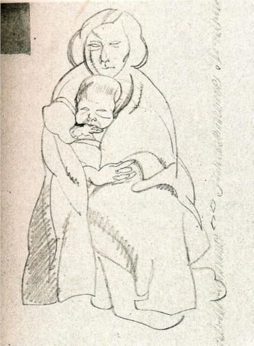 """Mother and child,"" byCarlos Saenz de Tejada"