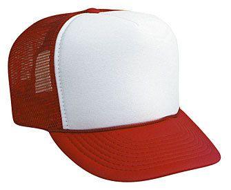 6fff3700bc1 WHITE FRONT RED BACK Trucker hat mesh hat - Blank Plain Trucker Hats