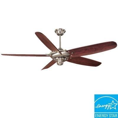 Home Decorators Collection Altura 68 In Brushed Nickel Ceiling Fan 26669 The Home Depot Brushed Nickel Ceiling Fan Ceiling Fan Ceiling Fan With Remote