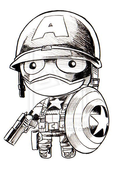 Captain America Chibi Doll By Kevinraganit On Deviantart Chibi Marvel Chibi America Art