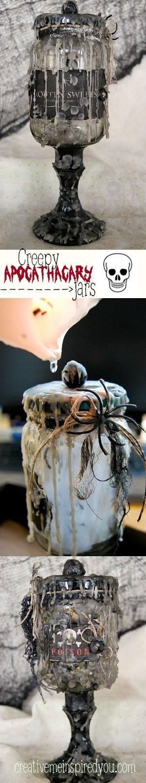 Love these creepy Halloween jars! by Kardemon Vintage yesterdays - creepy halloween decorations homemade