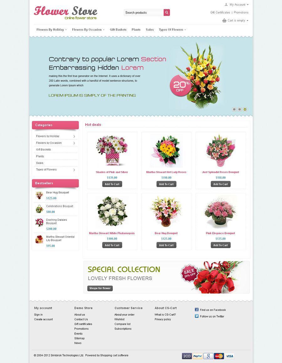 CST020031 - Premium CS-Cart Flower Store Template | CS-Cart Themes ...