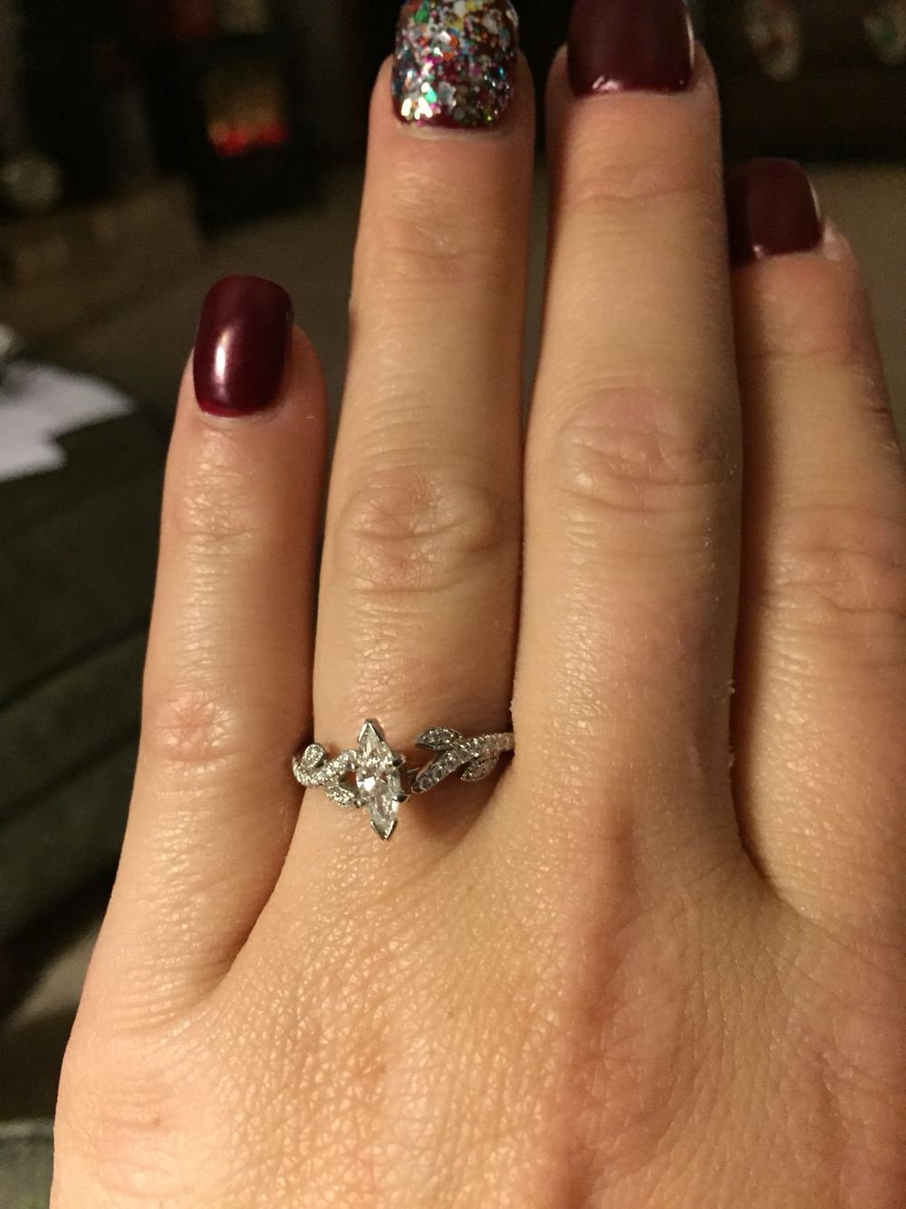 In love with my engagement ring!