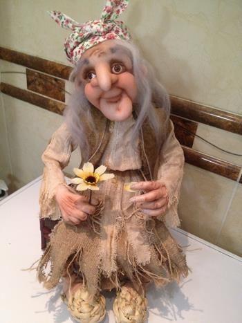Как сделать бабу ягу куклу своими руками