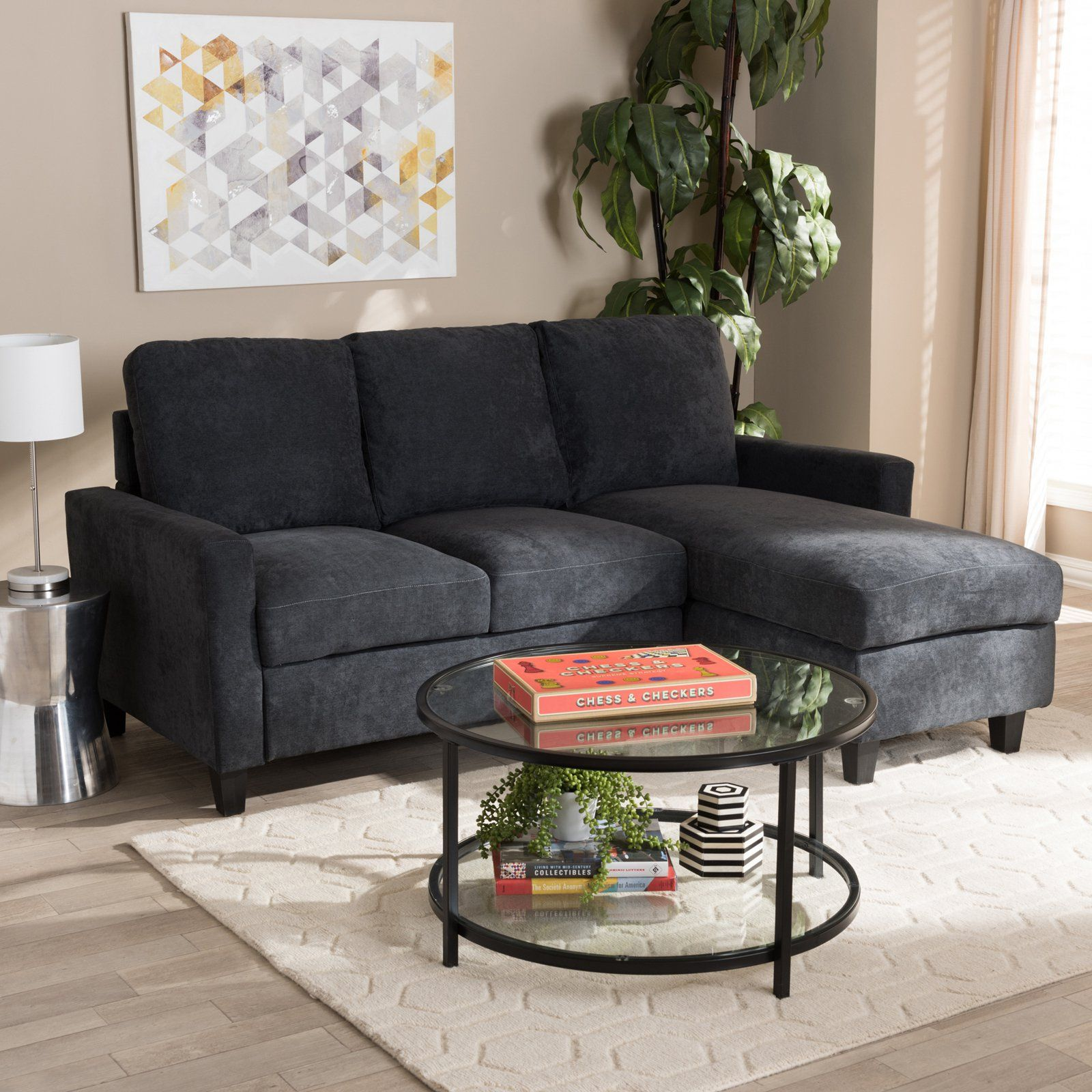 Baxton Studio Greyson Modern And Contemporary Fabric Upholstered