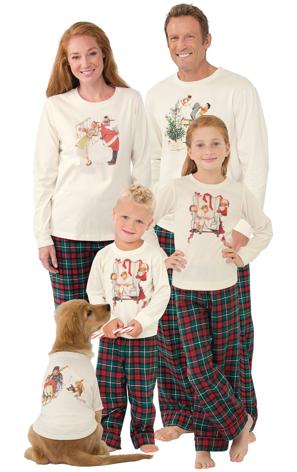 7c0646cd7f7d Norman Rockwell Christmas Matching Family Pajamas