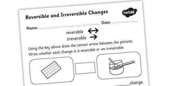 Changing States Reversible Irreversible Changes Worksheet Changes In Matter Worksheets Reverse Changing states of matter worksheets