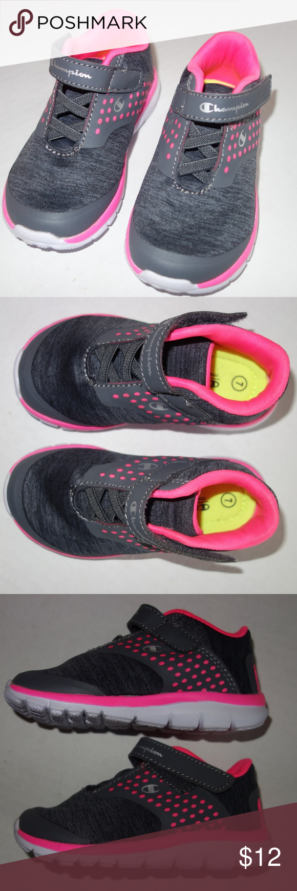 df537b8b804f Champion Athletic Shoes Sneakers Girl 7 Pink Gray Champion Athletic Shoes  Sneakers Girl 7 Pink Gray