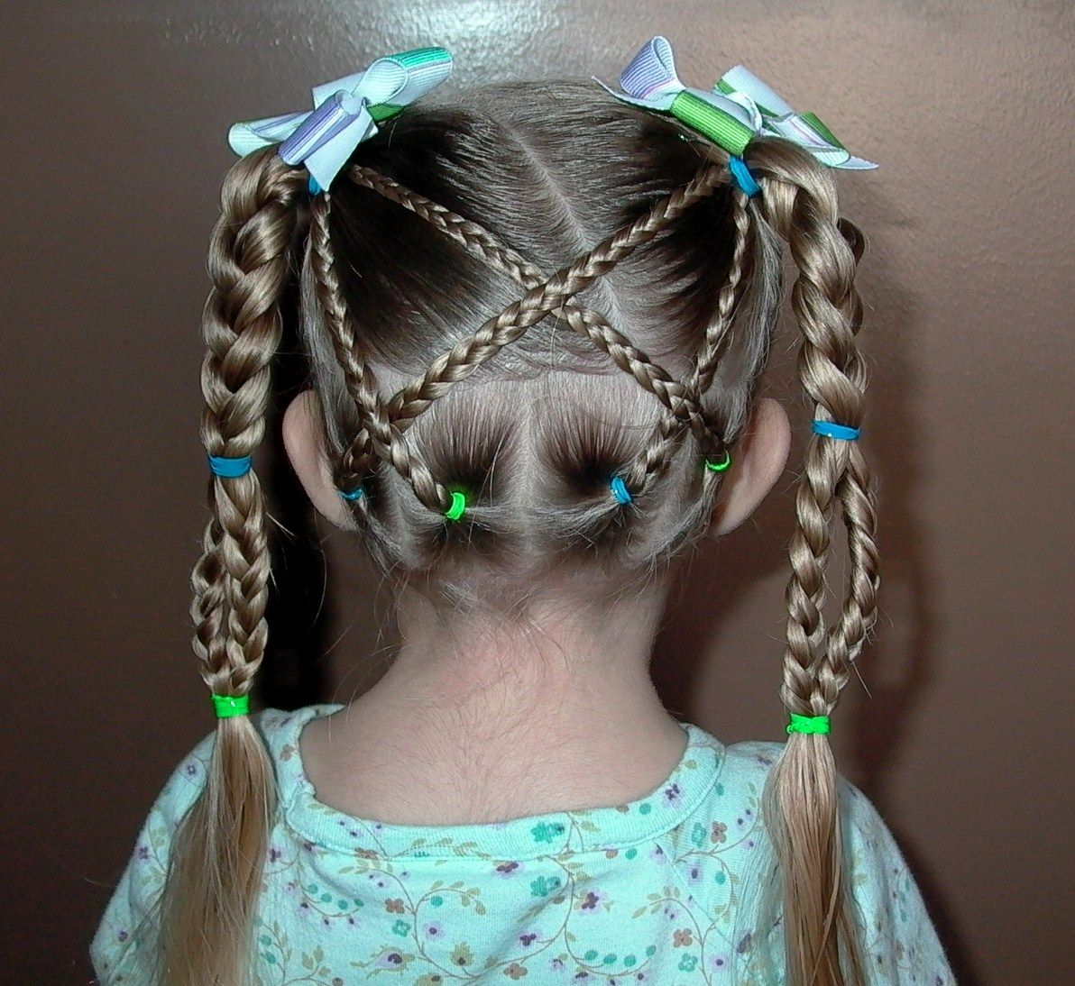 Little Girl Hairstyles Shaunells Hair: Little Girls Hairstyles The Criss  Cross With Braid