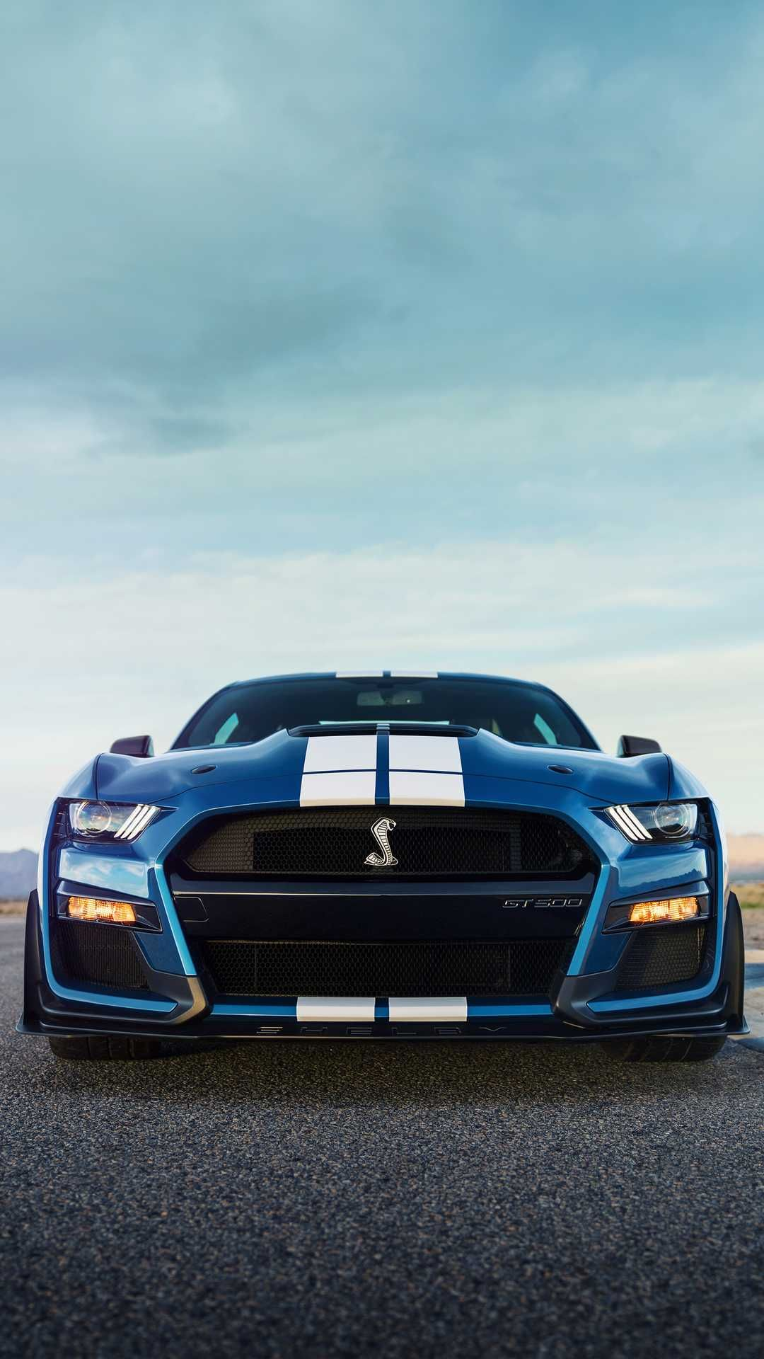 New 2020 Ford Mustang Shelby Gt500 Blue Front Ford Mustang Shelby Gt500 Ford Mustang Shelby Mustang Shelby