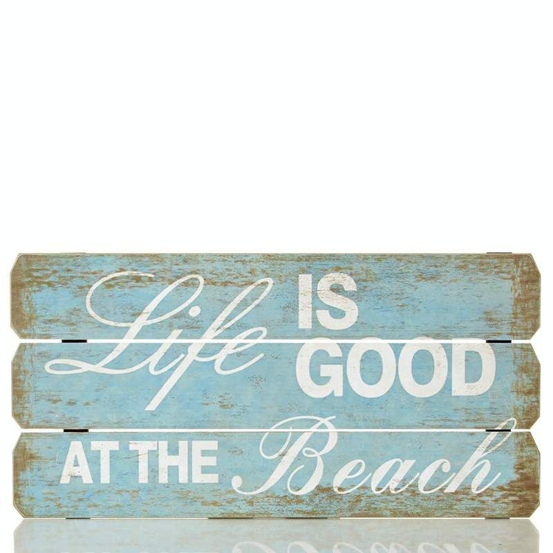 12 x 24 Life Is Good At The Beach Wall Art 611553452 | Wall Art ...