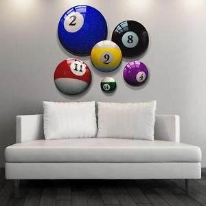 Pool Ball Canvas Art Prints For Man Cave Bar Office And Billiard Room Wall Decor Table Lighting Etc Pinterest