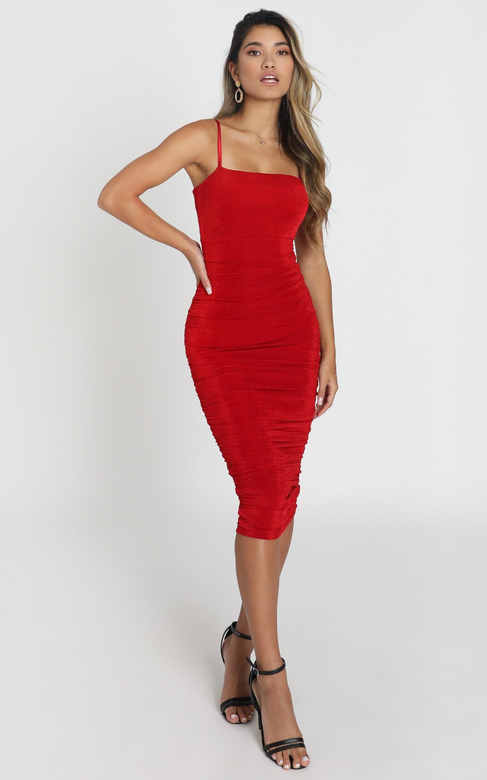 Commit To Me Maxi Dress In Red Showpo In 2020 Dresses Maxi Dress Dress Making