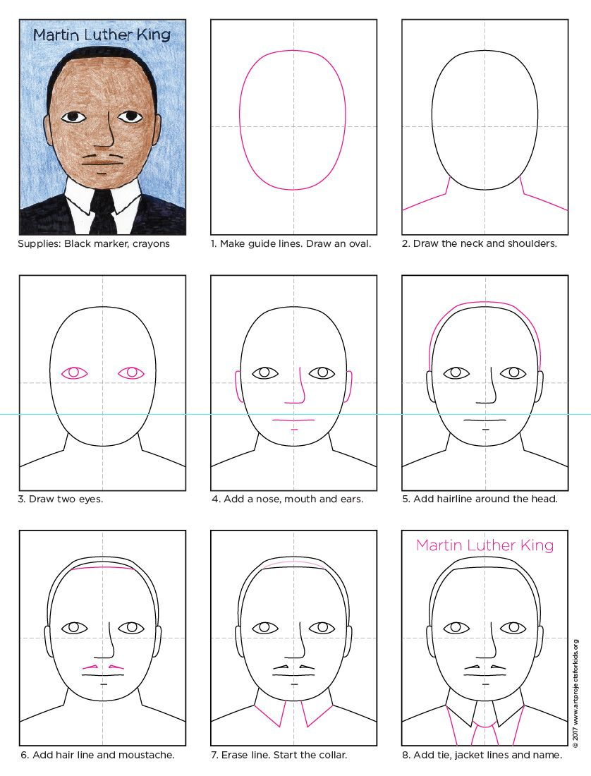 How to Draw Martin Luther King | Martin luther king, Martin luther ...