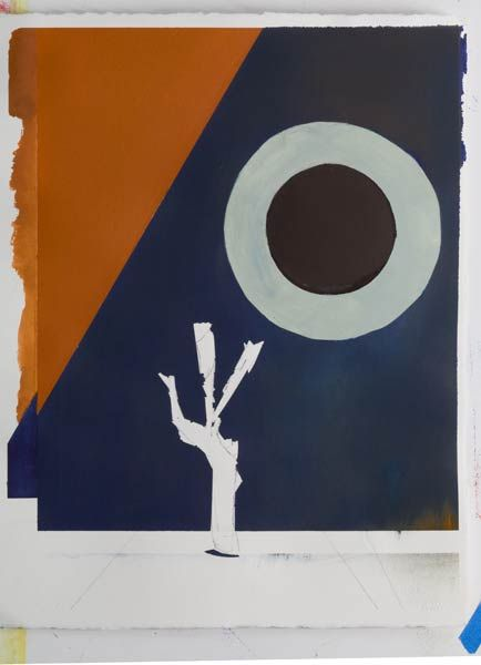 contemporary war artists painting - Danger Tree