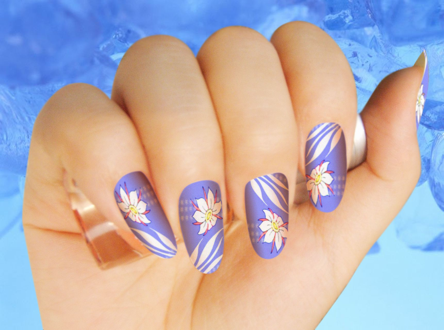 Nail paint 4 hd images tashara barnowski pinterest creative blue nail art and blue nails color is a color which fit very well with jeans though blue color is superb you need to get good ideas to get wonderful nail prinsesfo Images
