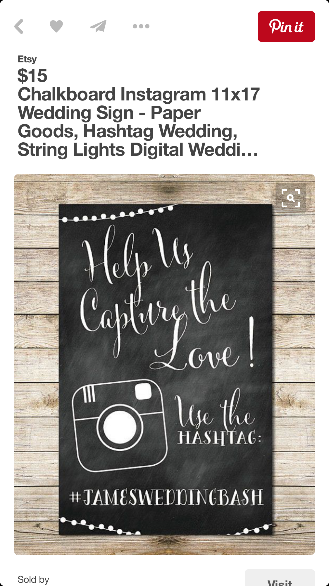 Pin by Kayla Smith on Unique Wedding hashtag sign