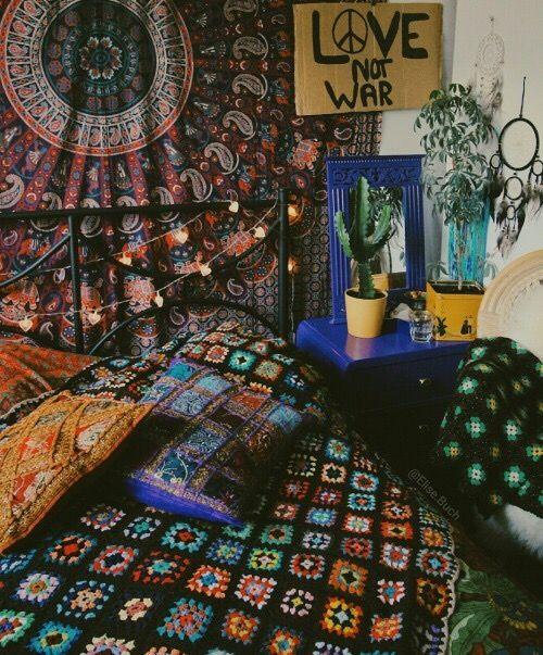Boho room tumblr room grunge room new place - Hippie zimmer ...