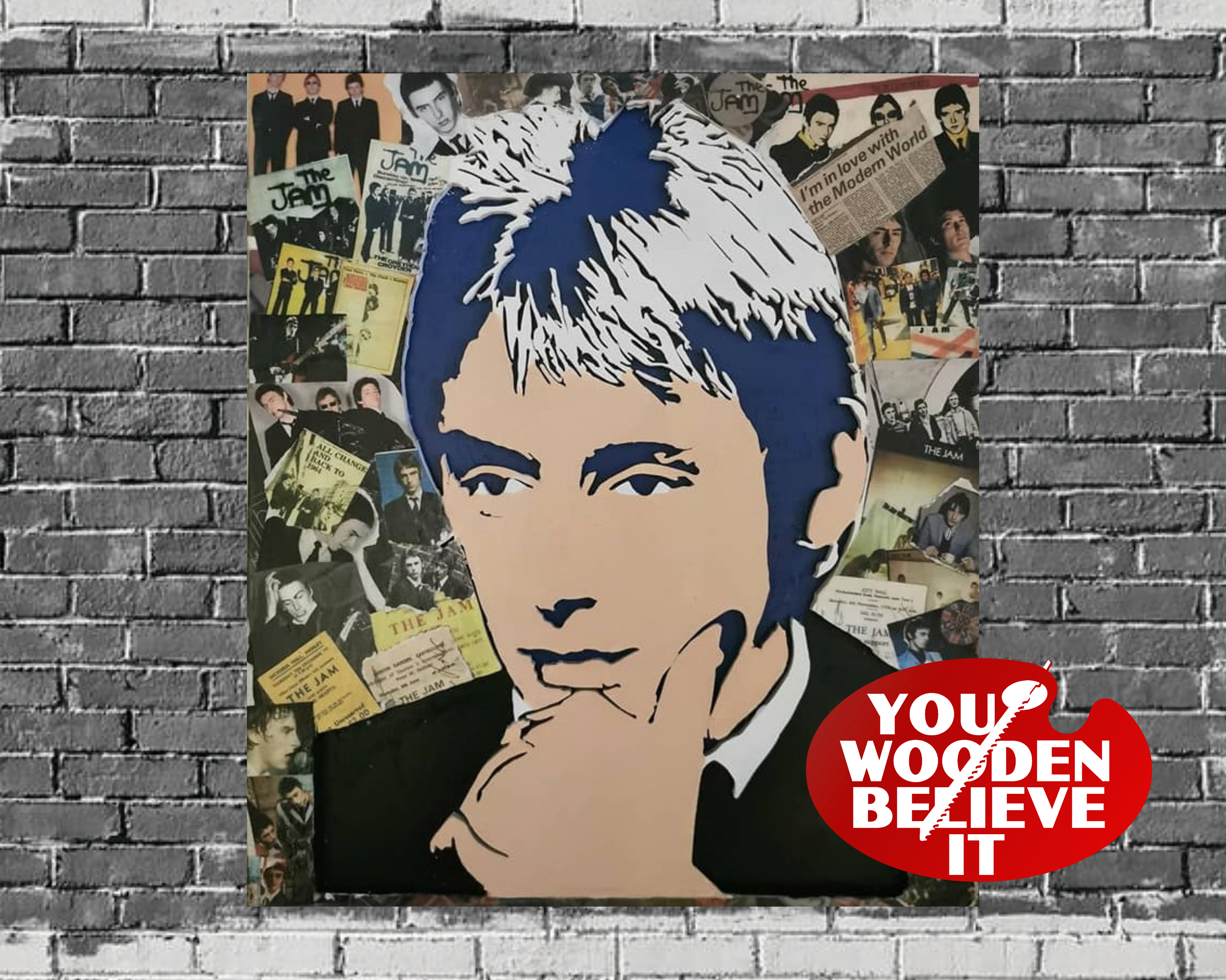 Photo of The Evolution of Paul Weller Part 1 – 1977-1979 – Scroll Saw/Decoupage Artwork – Exclusive Artists Collection