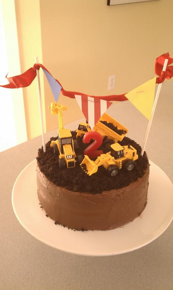Fin S 2nd Birthday Cake Construction Birthday Cake