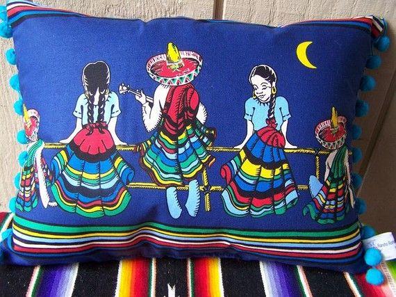 Colorful Pillows Mexican Pillows Colorful Pillows Mexican Decor