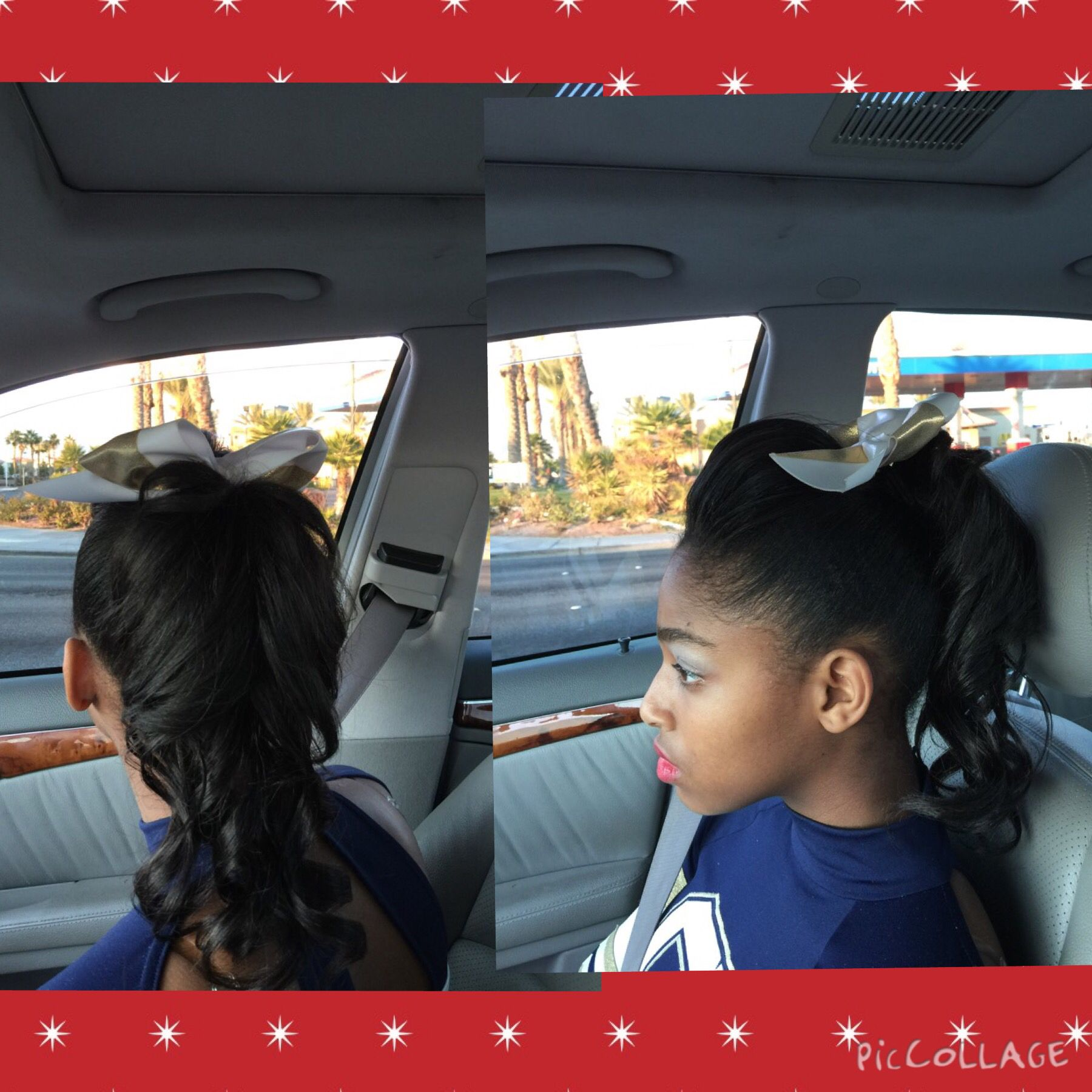 cheer hairstyle for black girls | cheer hairstyle for black