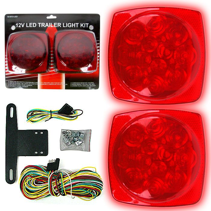 This Light Kit Is Ideal For Use With Any Rv Trailer Or Car Corrosion Resistant Housing Mounts Effortlessly On Ne Led Trailer Tail Lights Utility Trailer Led