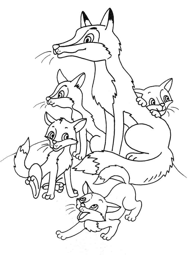 Fox Family Coloring Page Family coloring pages, Fox