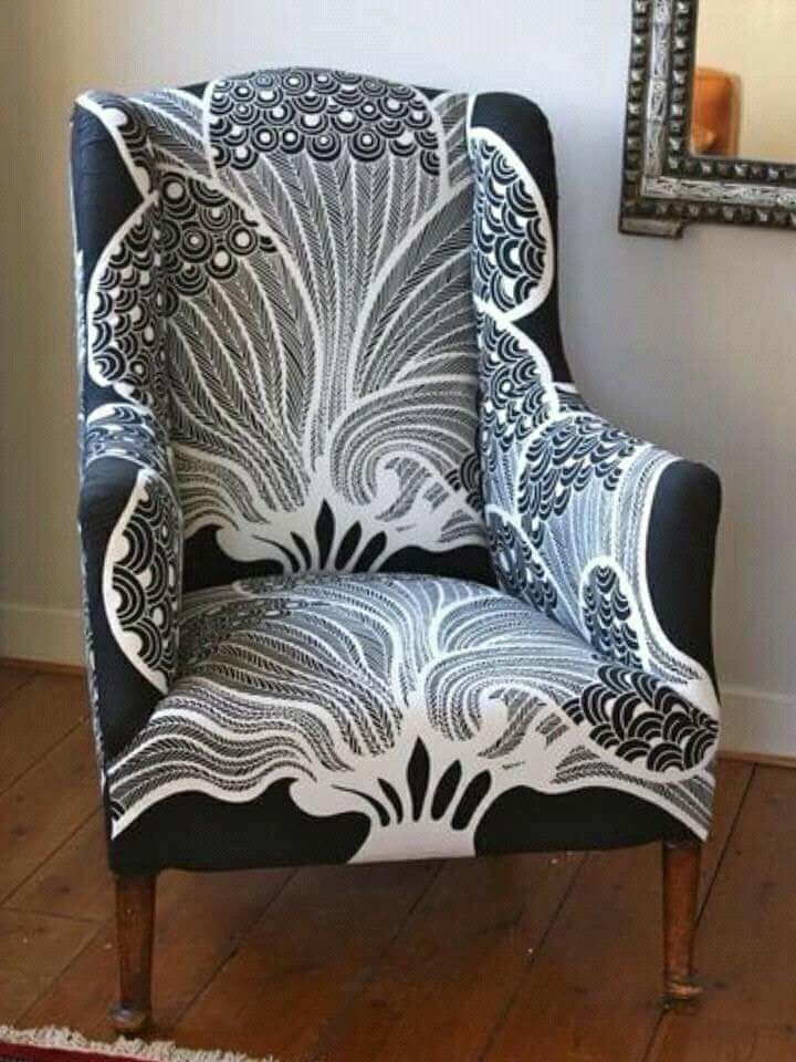 black and white large print fabric with wood legs exposed 375 rh ar pinterest com