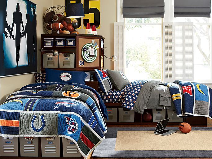 Attractive I Love The PBteen Store It NFL Bedroom On Pbteen.com I Especially Love The  NFL Wall Mural!! SO COOL!!
