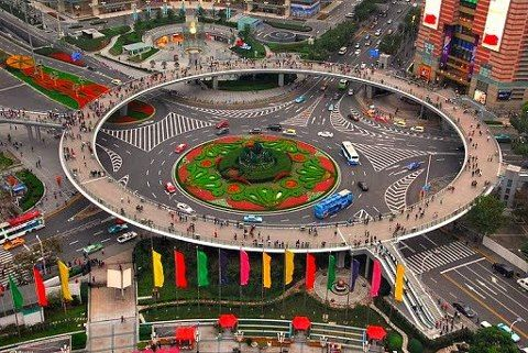 Circular Pedestrian Bridge, China