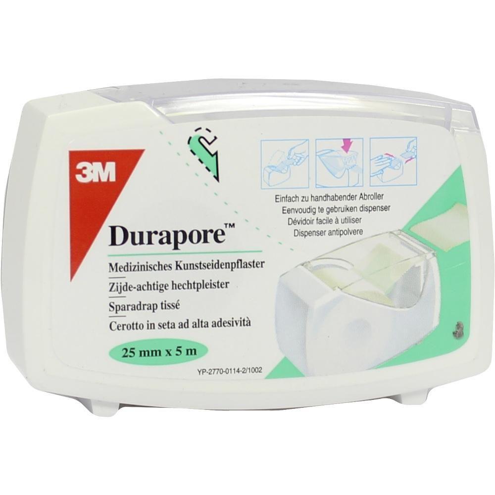 DURAPORE Silkpflaster 2,5cmx5m Rollen:   Packungsinhalt: 1 St Pflaster PZN: 06337976 Hersteller: 3M Medica Zwnl.d.3M Deutschl.GmbH Preis:…