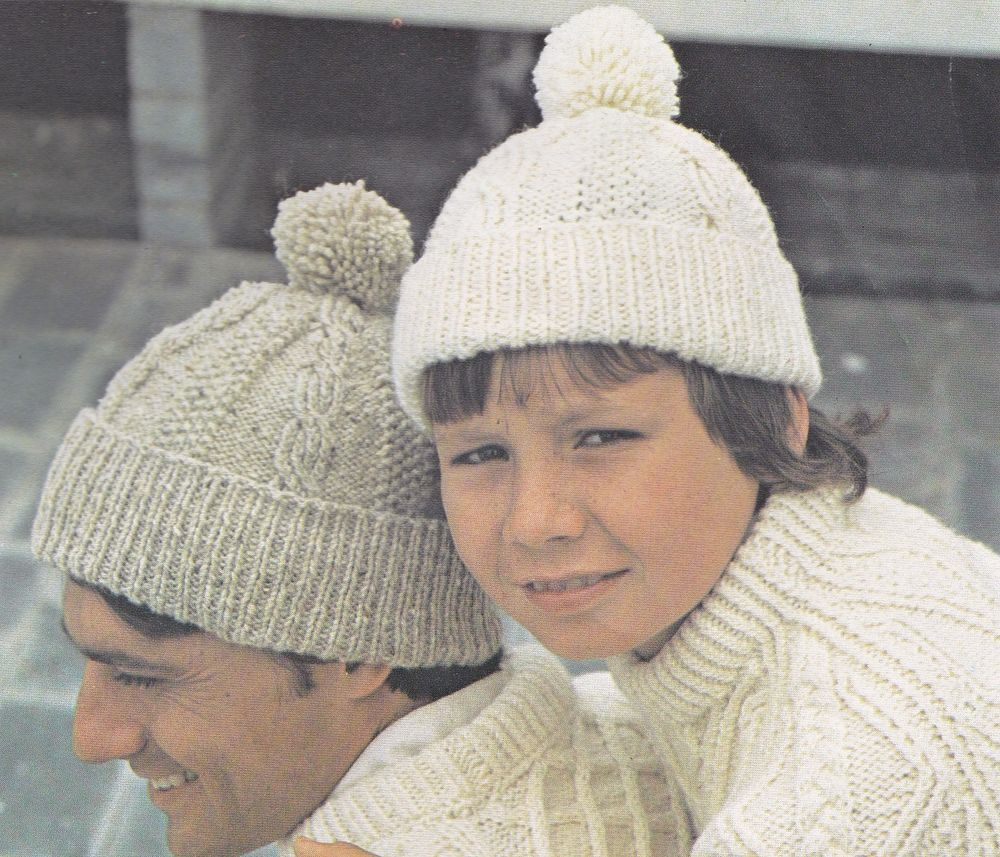 Vintage Knitting Pattern Instructions to Make an Adult or Childs ...