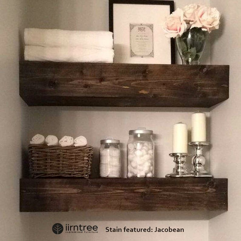 Free Shipping Wood Floating Shelves 10 Inch Deep Rustic Shelf Farmhouse Shelf Floating Shelf Reclaimed Floating Shelf Handmade In 2020 Farmhouse Bathroom Decor Wood Floating Shelves Modern Farmhouse Bathroom