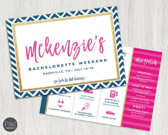 Bachelorette Party Navy Pink