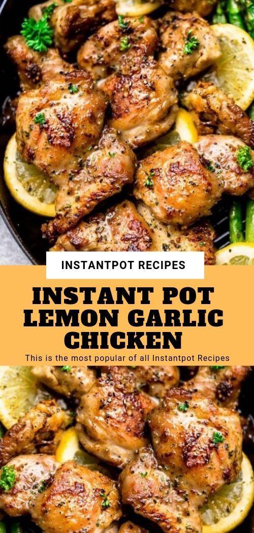 INSTANT POT LEMON GARLIC CHICKEN #instantpotrecipes