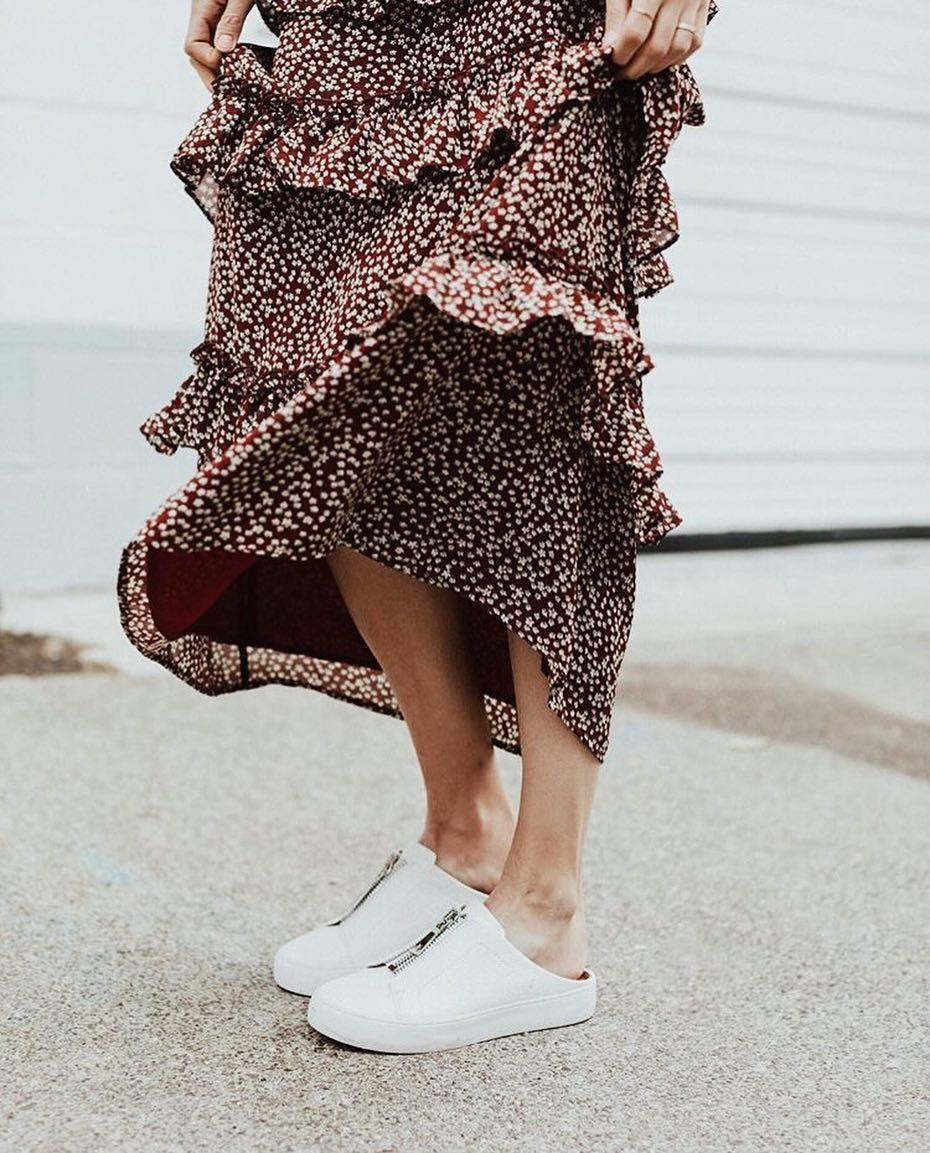 stephaniecrusso wears the Lena Zip Mule
