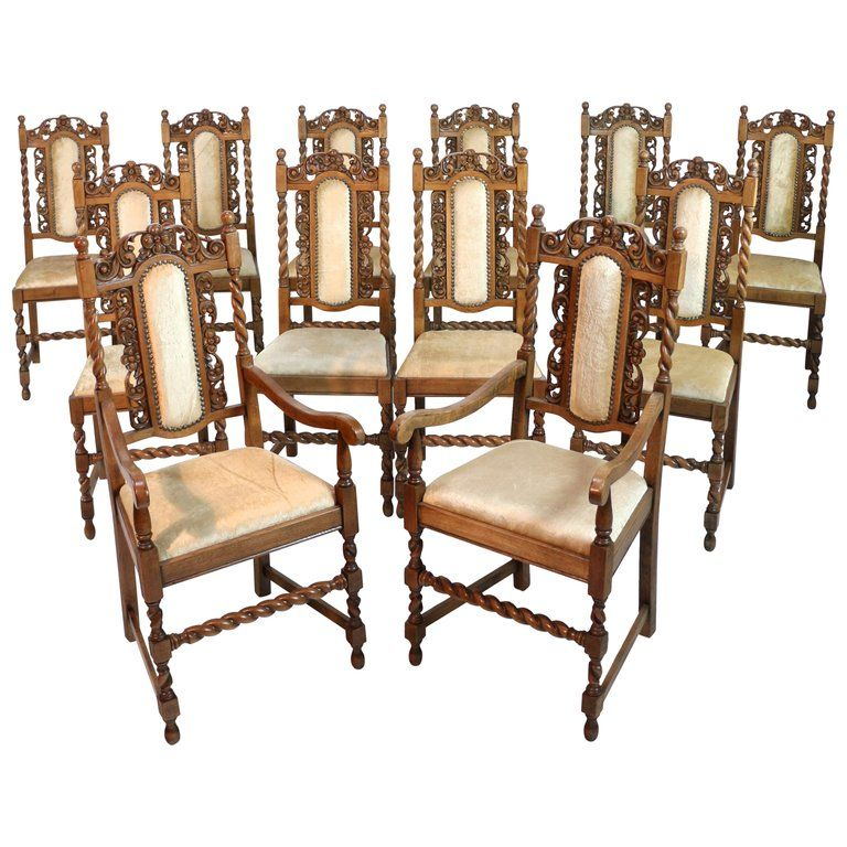 Surprising Set Of 12 1Stdibs Dining Room Chairs Antique Revival Pabps2019 Chair Design Images Pabps2019Com