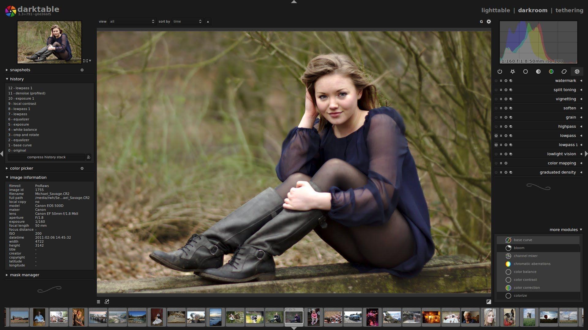 Darktable RAW edit: Lady in boots | Darktable | Photography