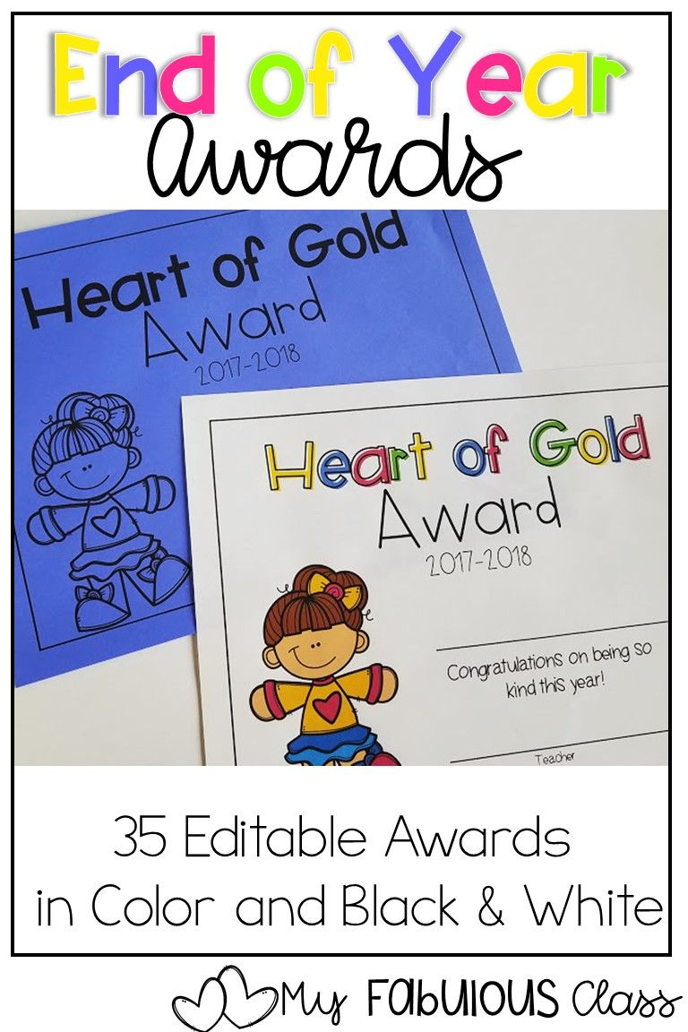 Editable End Of The Year Awards Kindergarten Awards Preschool Award Kindergarten Graduation Programs [ 1152 x 768 Pixel ]