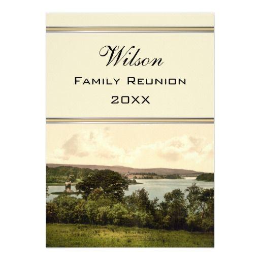 Upper Lough Erne Co Fermanagh Family Reunion Custom Invitation