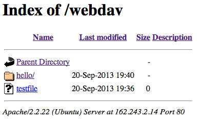 WebDAV - Configure WebDAV Access with Apache on Ubuntu
