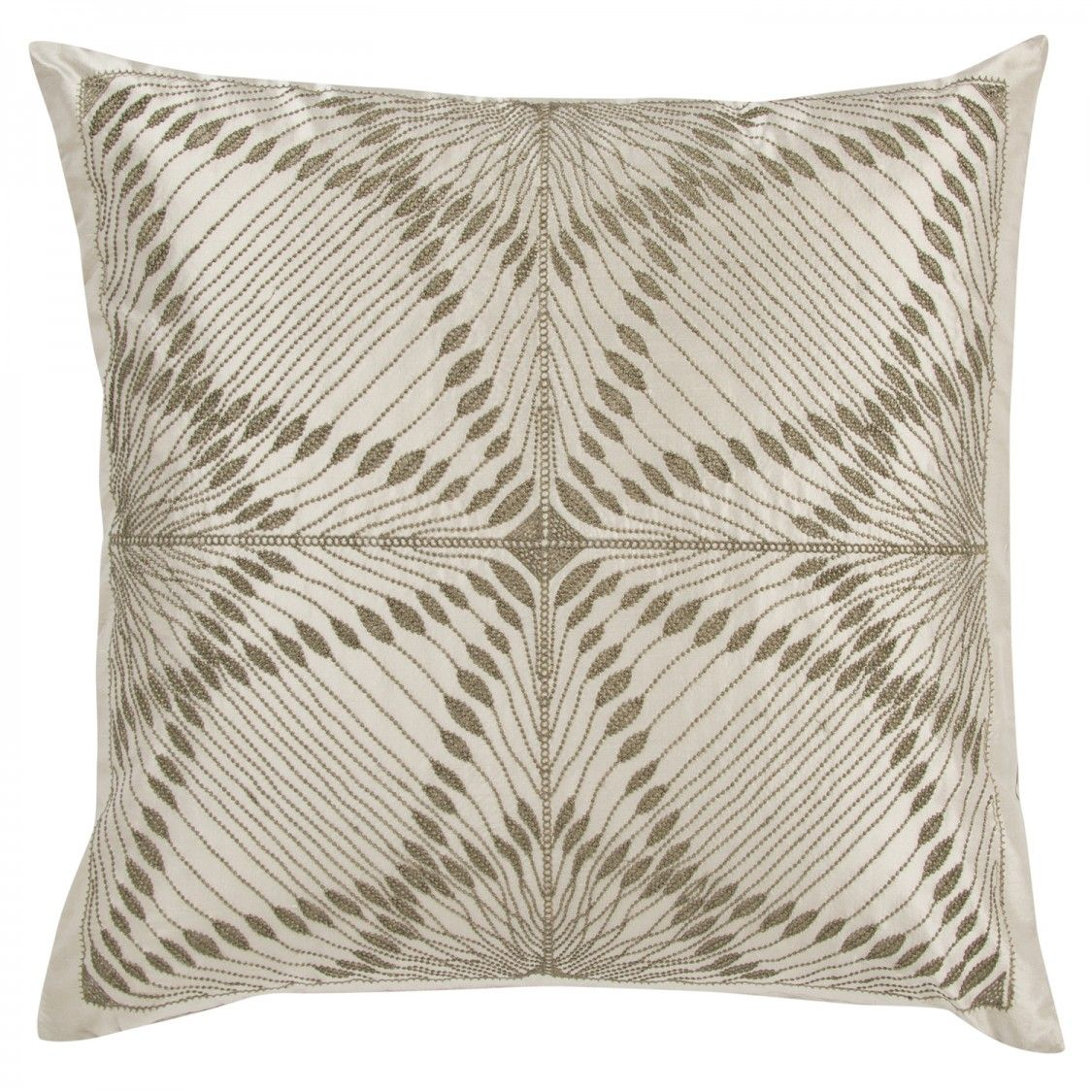 Luxury Glass Beads Decorative Pillow In Silver By Frette Pillows