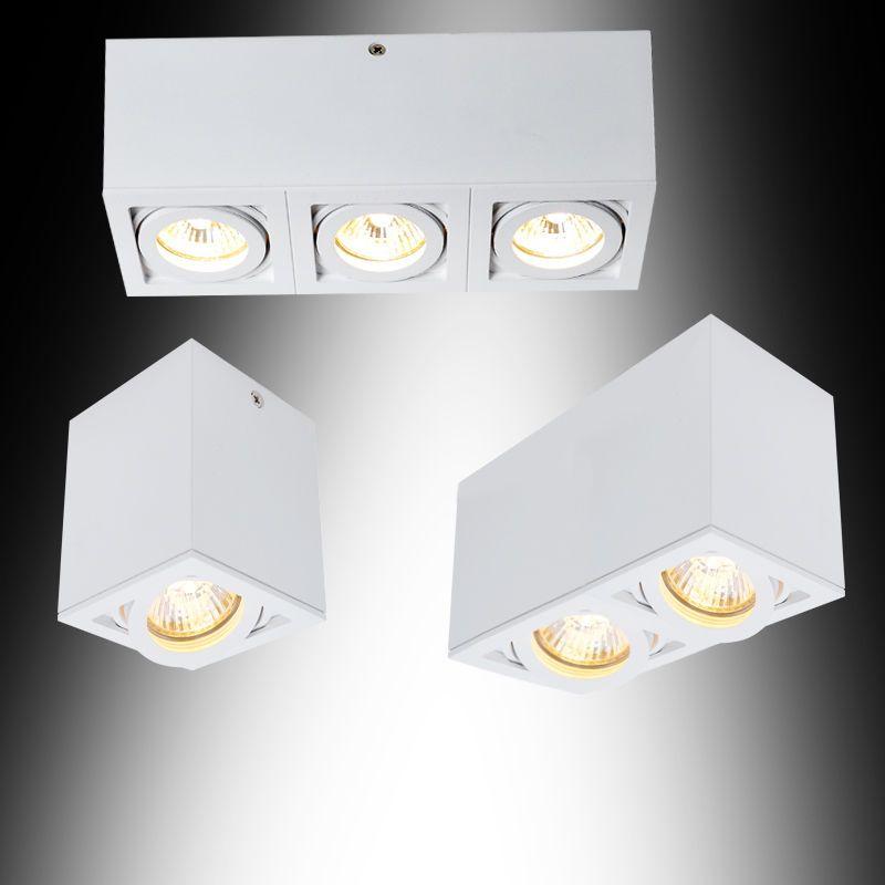 details zu deckenleuchte aufbauspot deckenlampe leuchten. Black Bedroom Furniture Sets. Home Design Ideas