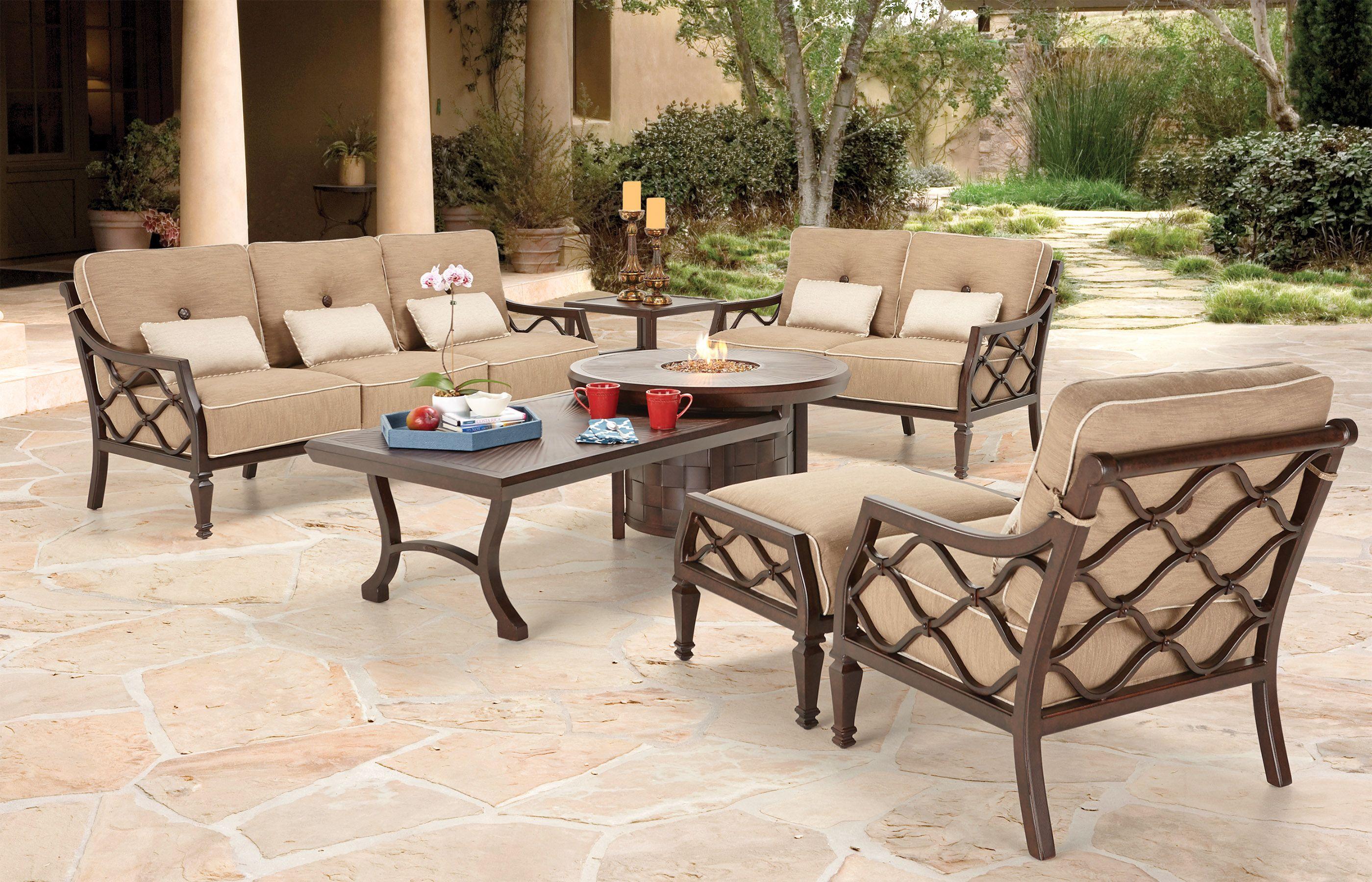 Villa Bianca cushioned deep seating. | Aluminum patio ...